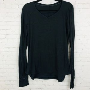 lululemon athletica women shirt black race me 8